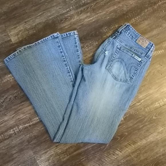 Hydraulic Denim - Hydraulic Light Washed Slightly Distressed Jeans